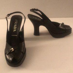 Prada platform vintage shoes